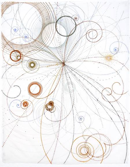 Carter Hodgkin Electromagnetic Push, 2008 Watercolor and gouache on handmade paper