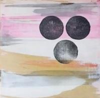 Maria Gil Ulldemolins Three Moons, 2015 Mixed media