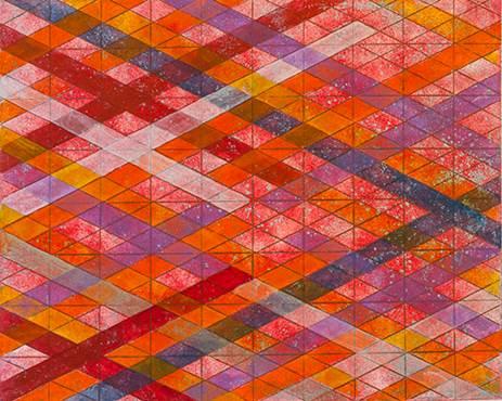 Arlene Slavin Intersections/Skies 11, 2013 Hand painted monotype