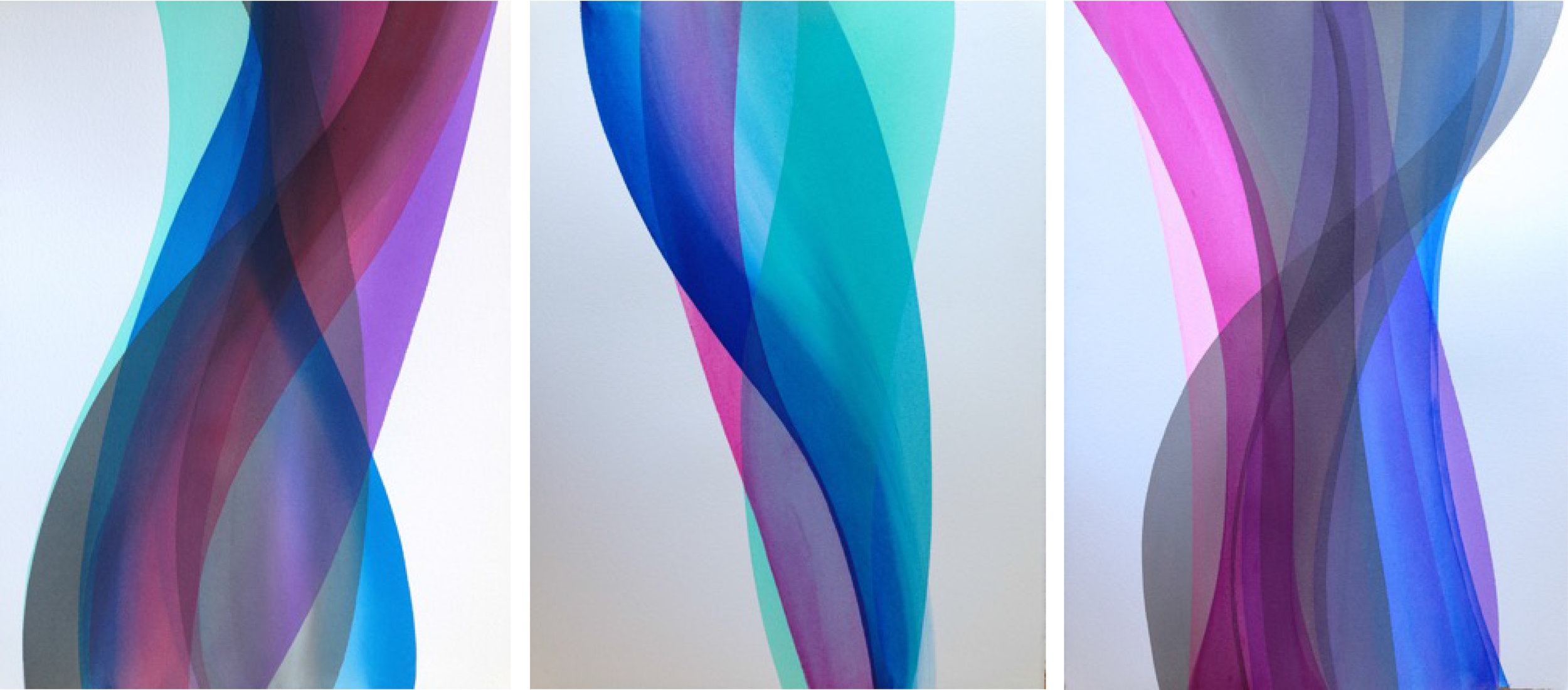 Paul Thomas Winter Winds, 2014 Acrylic on paper triptych