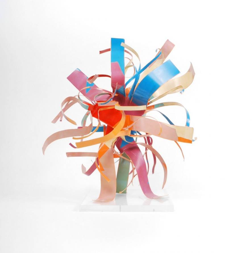 Dorothy Gillespie Hand painted aluminum suspended sculpture