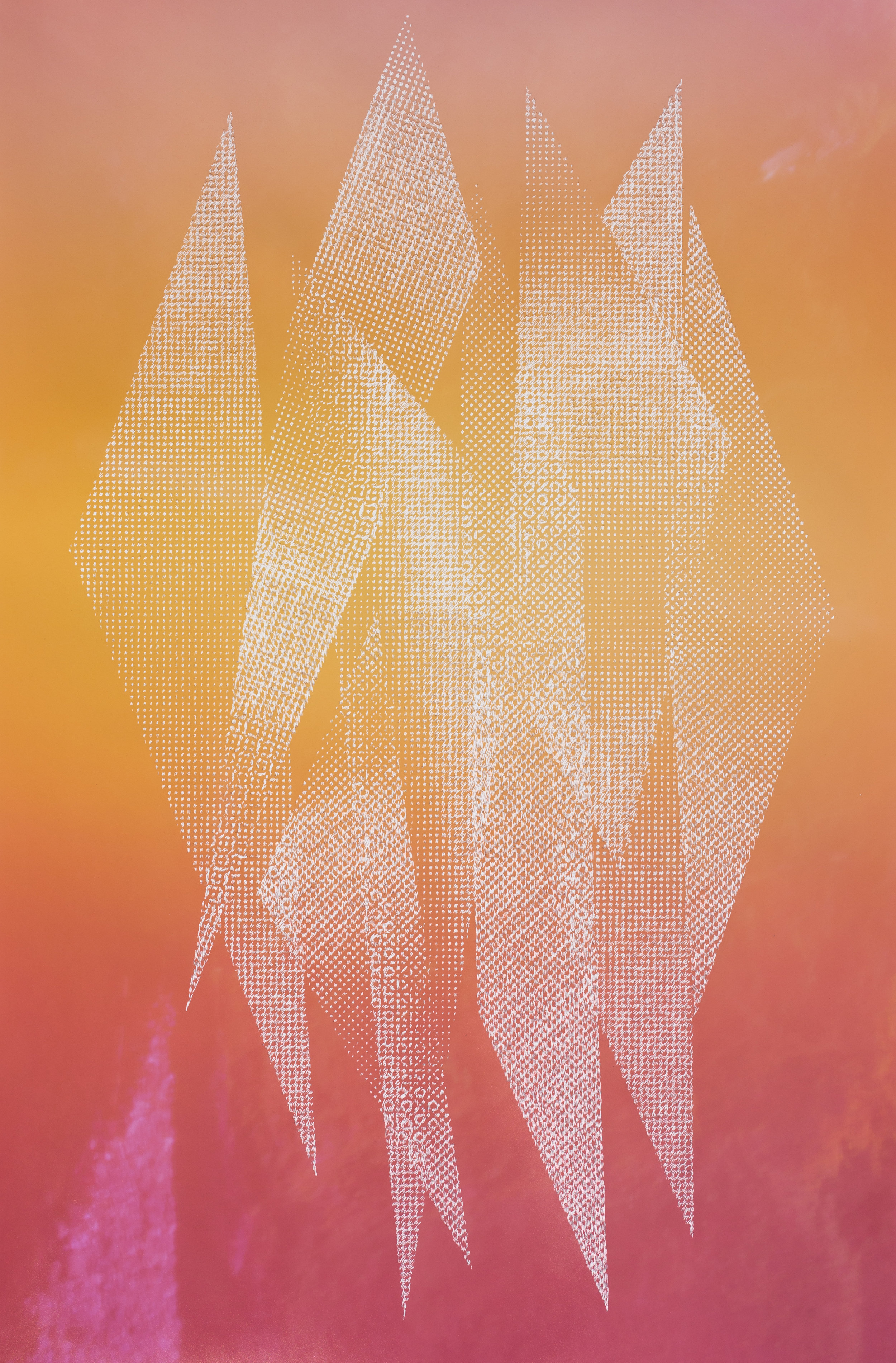 Christopher Russell Mountain XVI, 2017 Pigment print scratched with a razor