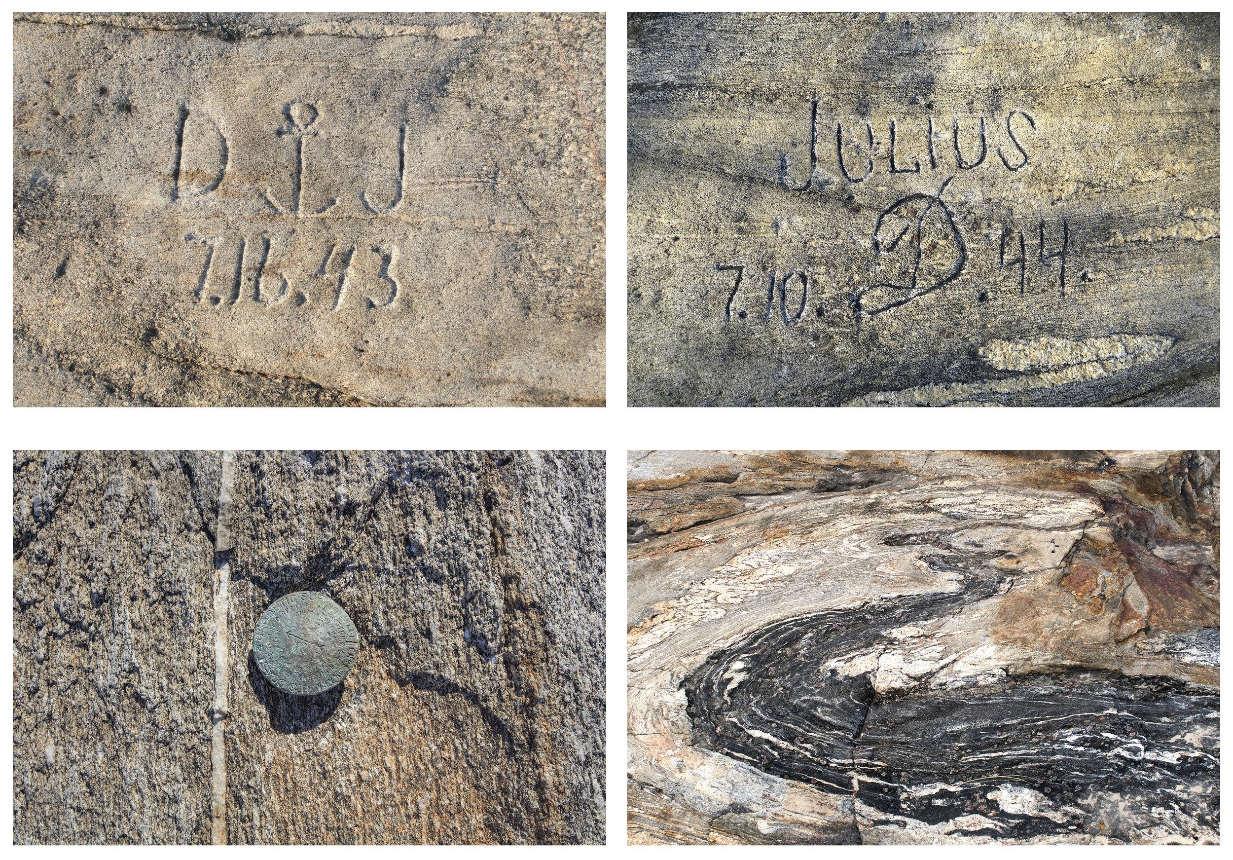 DJ 7.16.43, Julius D 7.10.44, Bronze Marker, Stone Flow.jpg