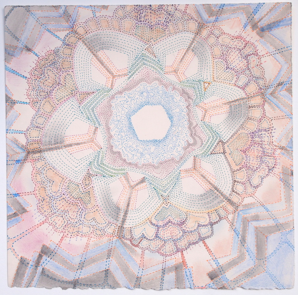 Sarah Morejohn Bolete Blueing 2018 Ink, colored pencil and graphite on paper