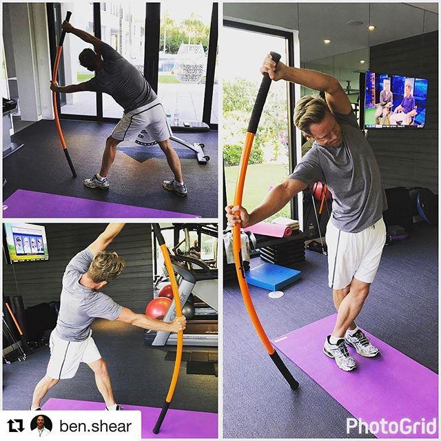 #Repost @ben.shear with @repostapp ・・・ Working on some @stickmobility with @lukedonald #stickmobility #flexibility #flexible #mobility