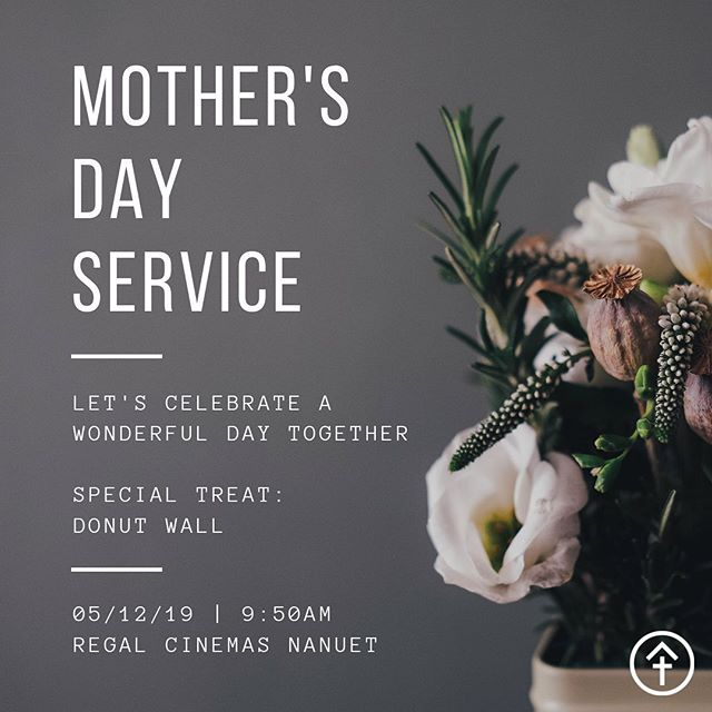 MOTHER'S DAY SERVICE ——— Join us this Sunday as we celebrate Mother's day. Blessing and honoring all the mother's who deserve more than we can ever offer!  Special treat: Donut wall ——— Regal Cinemas Nanuet | 9:50AM  #happymothersday #mothersday #donutwall #sundaymorning  #mothersdayservice #prayer #worship #community #family #newlifetabernacle #nlt #servingtogether #worship #praise #prayer #pray #praiseandworship #church #churchesofrockland #rocklandcounty #churchplant #Jesusistheanswer #prayerwarriors #christian #faith #buildingeachother #boxerdonut