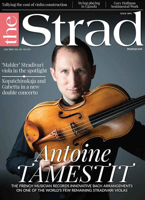"The Strad  magazine has chosen    Antoine Tamestit    as its cover star for their July issue which includes an illuminating five-page interview about Tamesit's new Bach recordings.    This year sees Tamestit release two albums of Bach arrangements:    the Goldberg Variations with Trio Zimmerman    which was released on the BIS record label in May; and a new album with Masato Suzuki of Bach Sonatas for Viola de Gamba and Harpsichord which will be released on Harmonia Mundi this August.    In the interview, Tamesit gives an insight into his relationship with the music of Bach and his approach to interpreting the music with different chamber music partners. Speaking about his performance with the harpsichord in the Viola de Gamba Sonatas, Tamestit remarked:    ""…one has to deal with the contrapuntal writing that treats the viola as one of three equal parts. Most of the time, the viola is either the upper or middle voice, but occasionally it becomes the bass, and everything happens so fast that often you have to change roles from one note to the next, and seamlessly too.""    He also enthuses about his own instrument: the 1672 'Mahler' Stradivari, one of only ten remaining Stradivari violas in the world, loaned by the Habisreutinger Foundation:    ""Everybody says that this is the greatest viola in existence...I always feel there are two of us on stage. It's a symbiotic relationship, like that of a great couple - and it reminds me of my wife!""    Tamestit's album, Bach: Goldberg Variations, with Trio Zimmerman is available to listen to on    Spotify    and to buy on the    BIS website   .    His album with Masato Suzuki, Bach Sonatas for Viola de Gamba and Harpsichord, will be released on 23 August.    To read the complete article, visit  The Strad 's website    here   ."