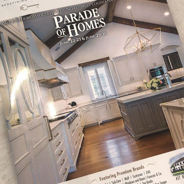 So excited to see one of my projects on the cover of the Parade of Homes book...what an honor! @cottageshreveport @terryelstonbuilder @hba_nwla