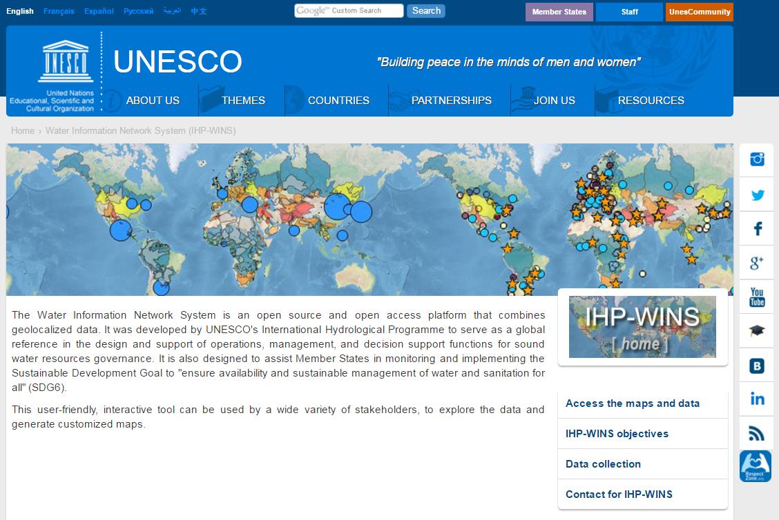 IHP-WINS website
