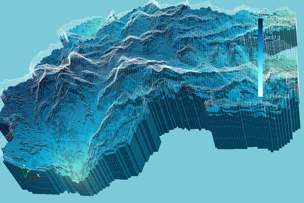 Isometric View of Vertex Heads