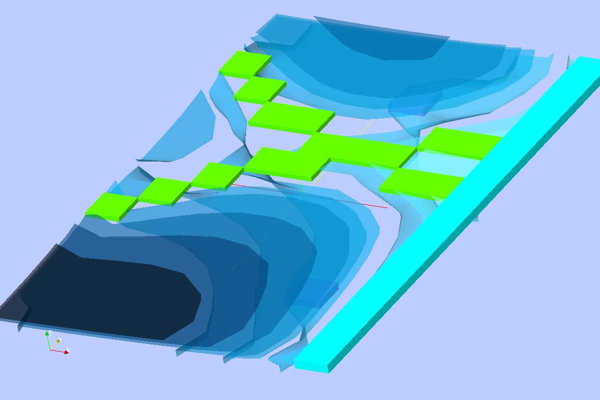 Isometric View of Equipotential Surfaces with Boundary Conditions