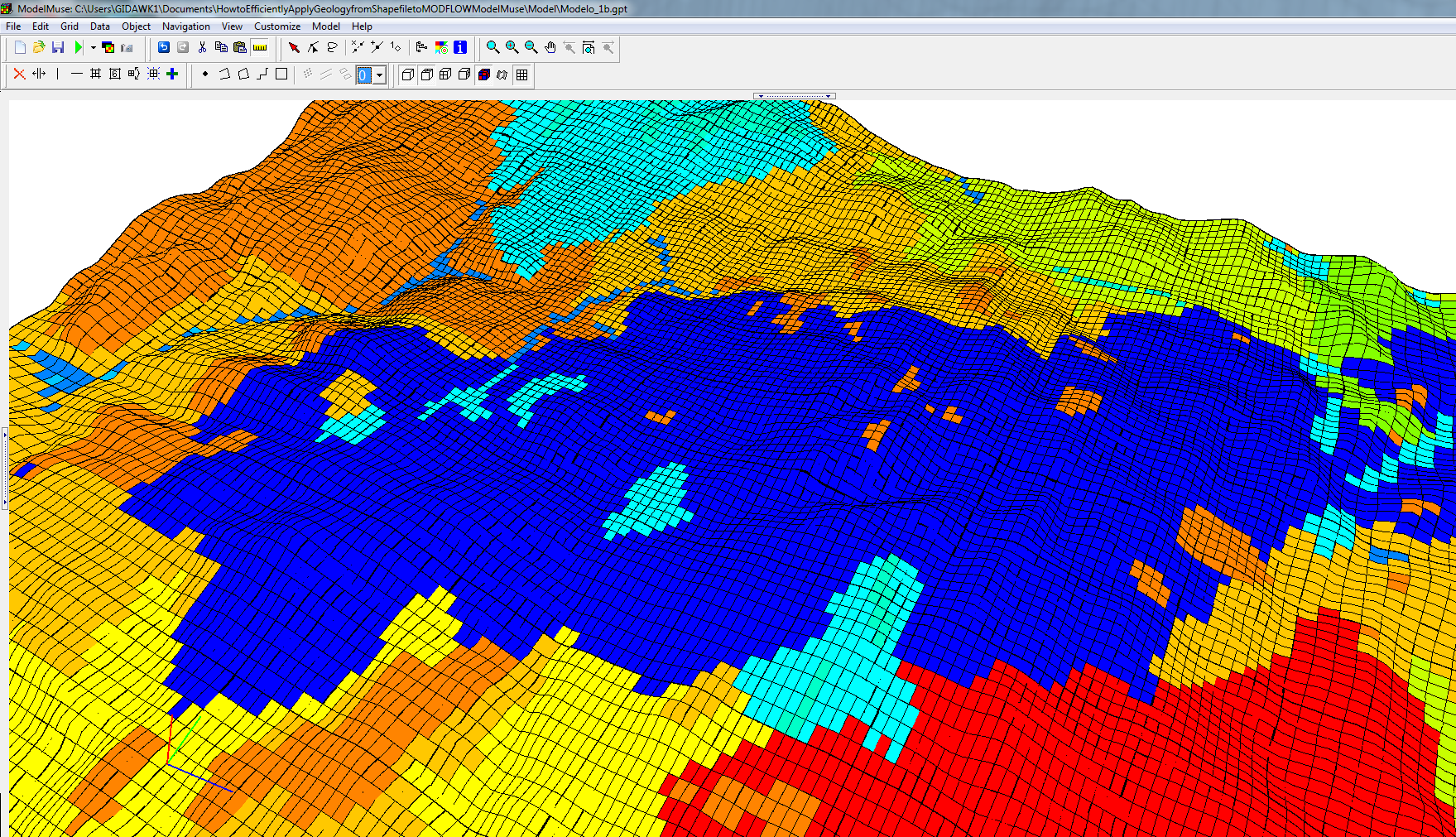 How to efficiently apply Geology from Shapefiles to MODFLOW