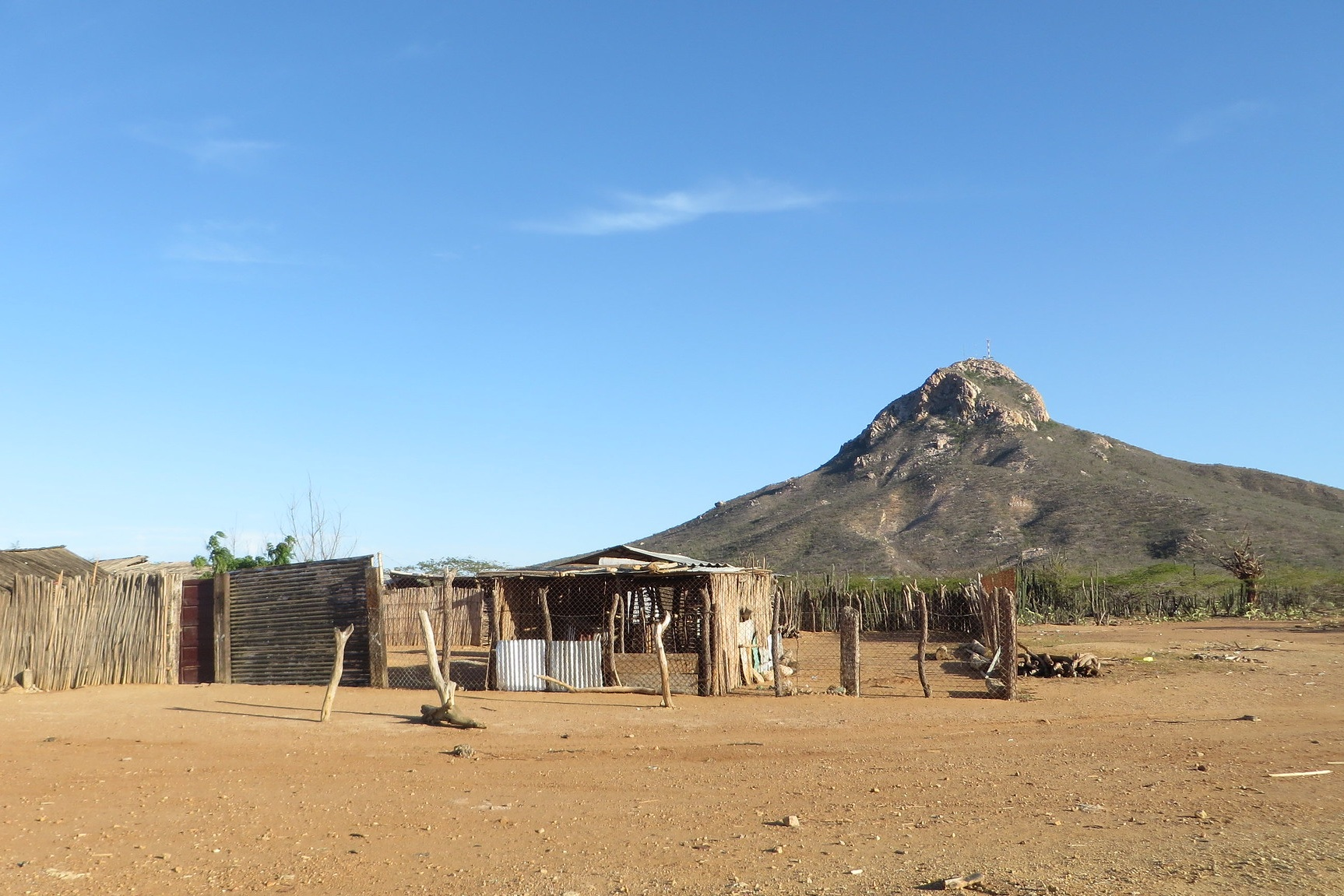 Typical shelters, La Guajira, Colombia