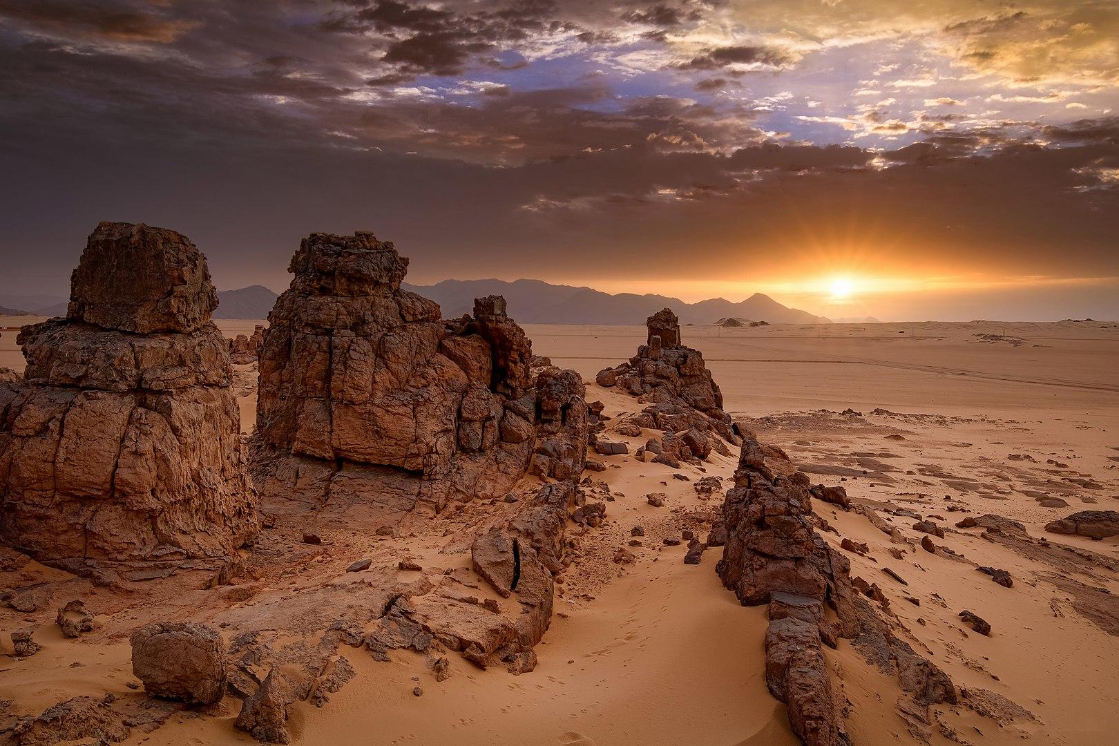 Sunrise on the Tassili n'Ajjer Plateau