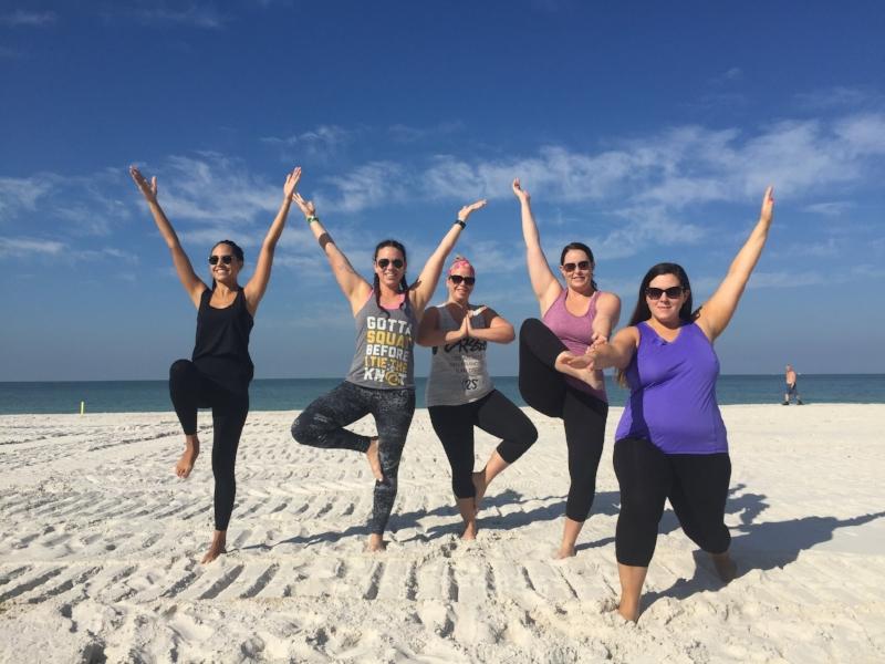 Sober bachelorette yoga