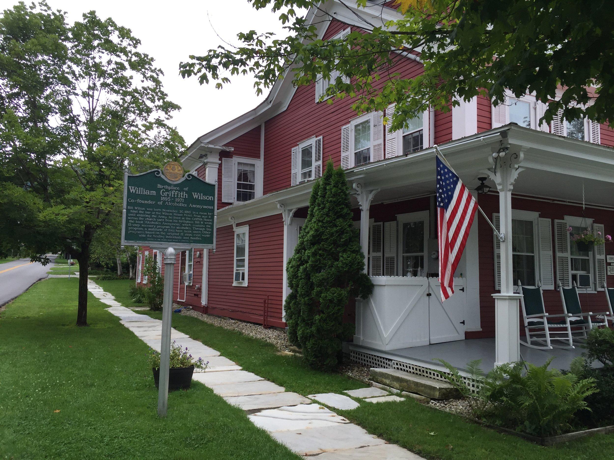 Bill Wilson's House Dorset Vermont
