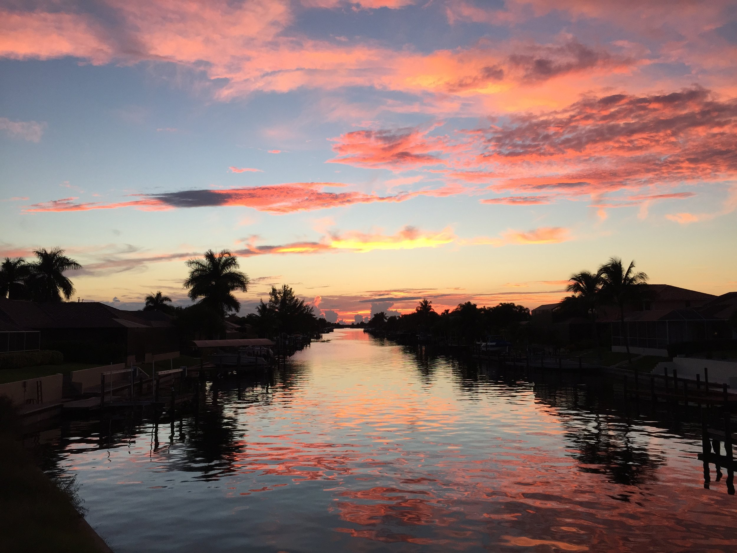sunset cape coral florida new year's 2016