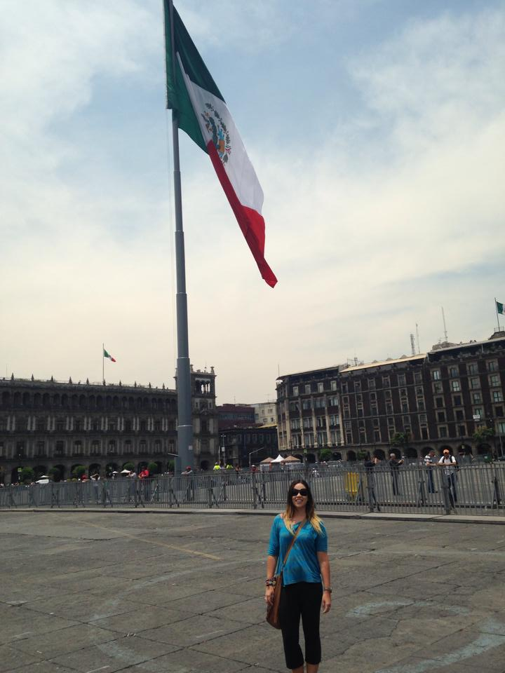 Me in the Zocalo in Mexico City, May 2014