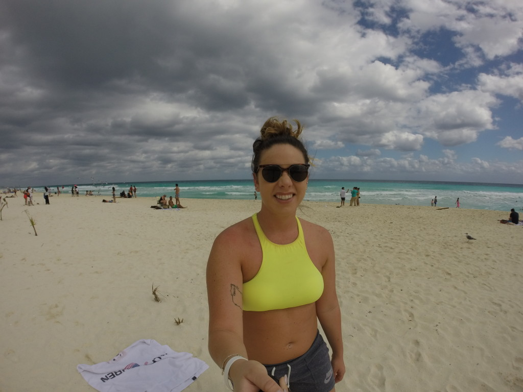 Alone time on the beach in Cancun