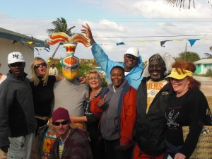 Marilyn partying in the bahamas