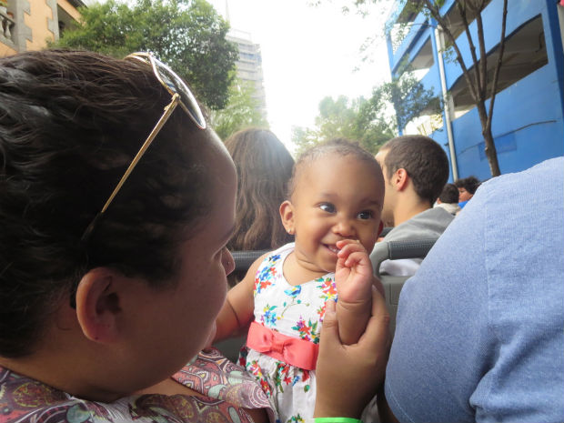 Mexico city bus tour with my friend norma and baby summer