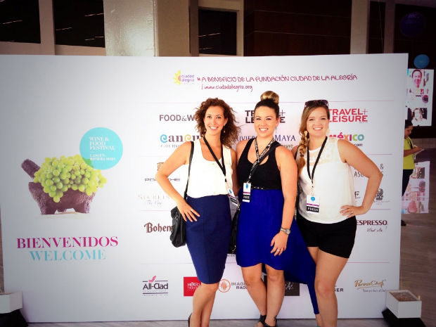 Girls press Wine and Food Festival Cancun