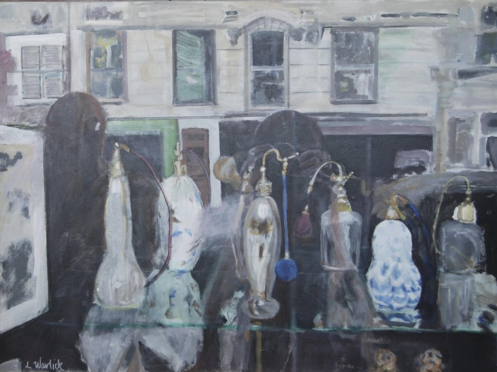 """""""Paris Shop Window <br> With Perfume Bottles"""""""