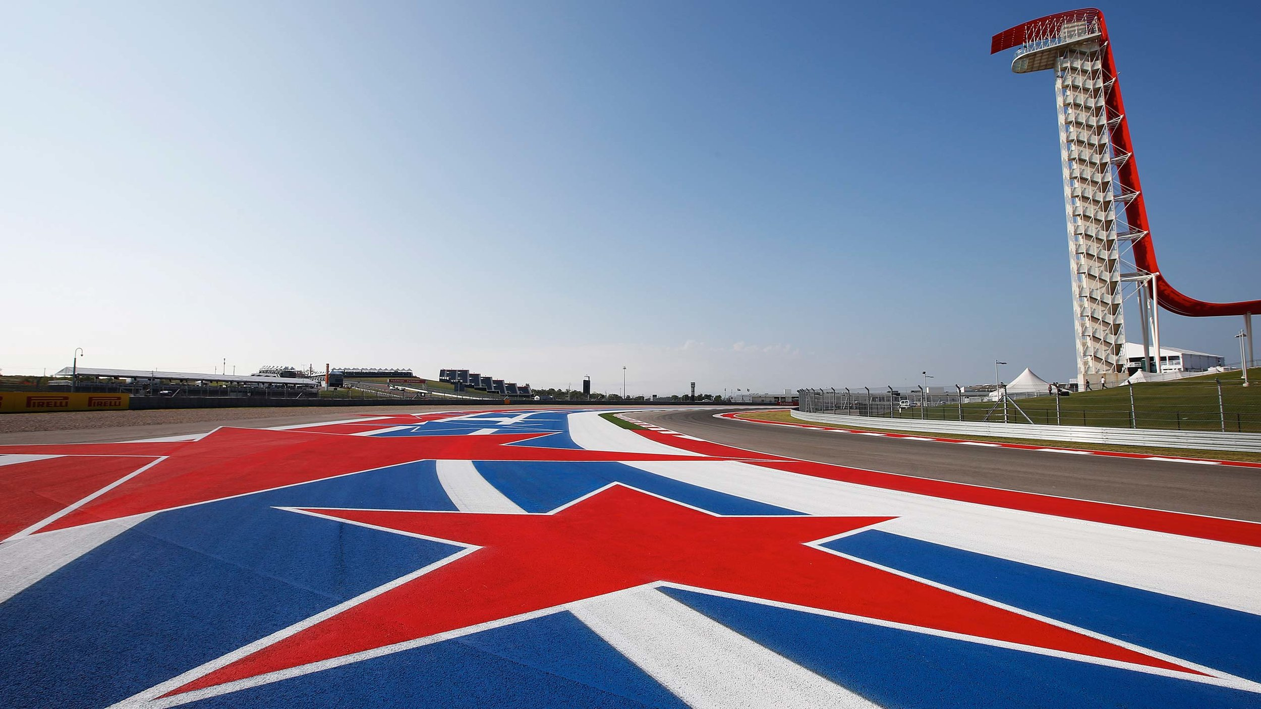 Shot of the Circuit of the Americas race track.