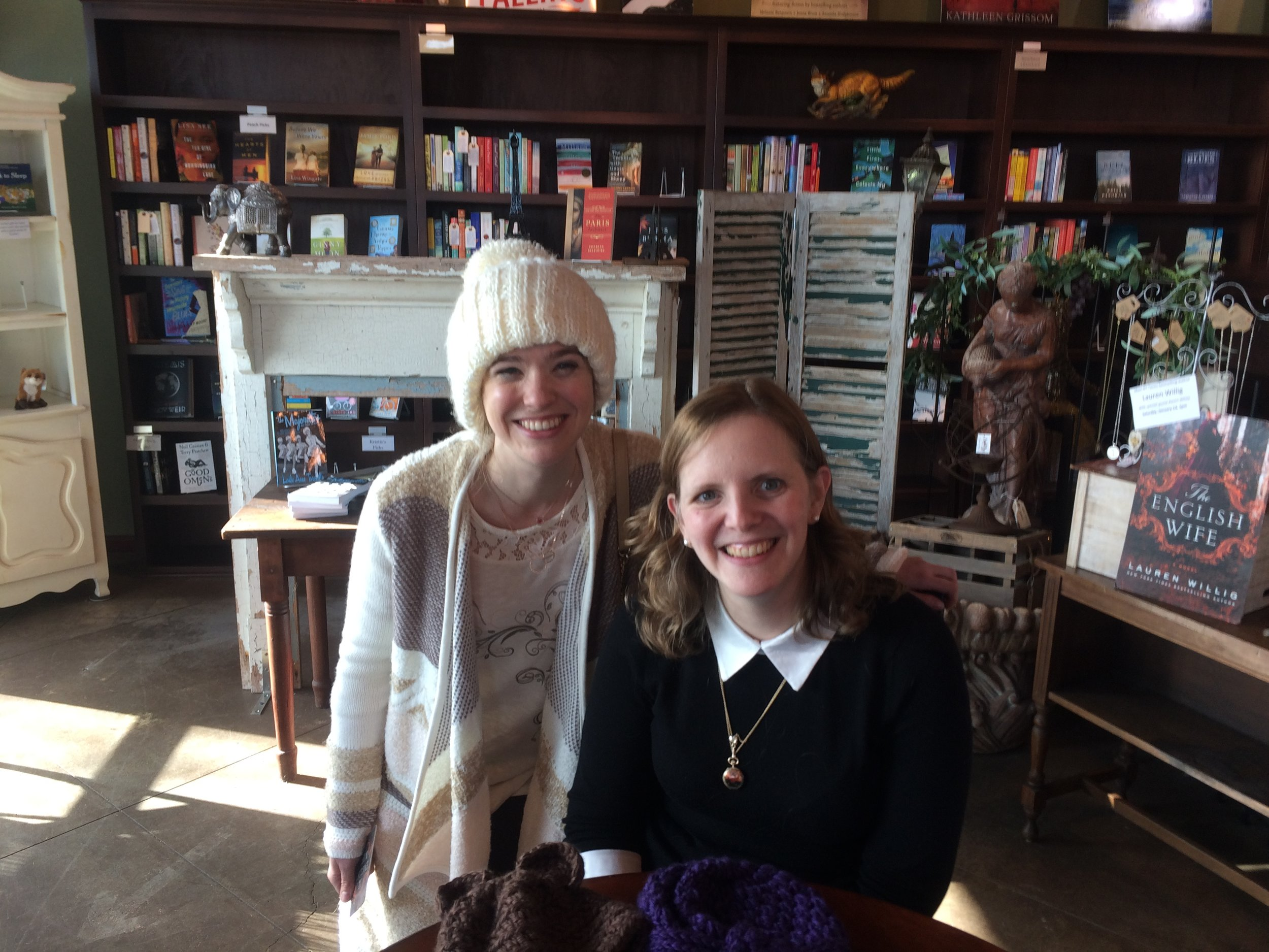 Lauren and I at the Foxtale Book Shoppe.