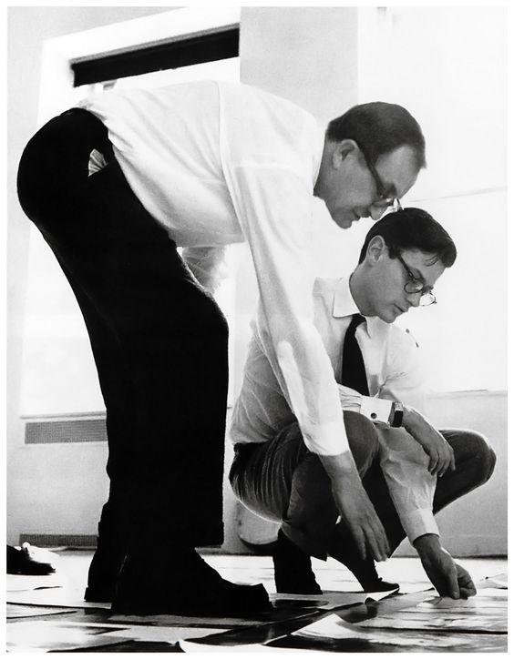 Alexey Brodovitch (left) and photographer, Richard Avedon (right).