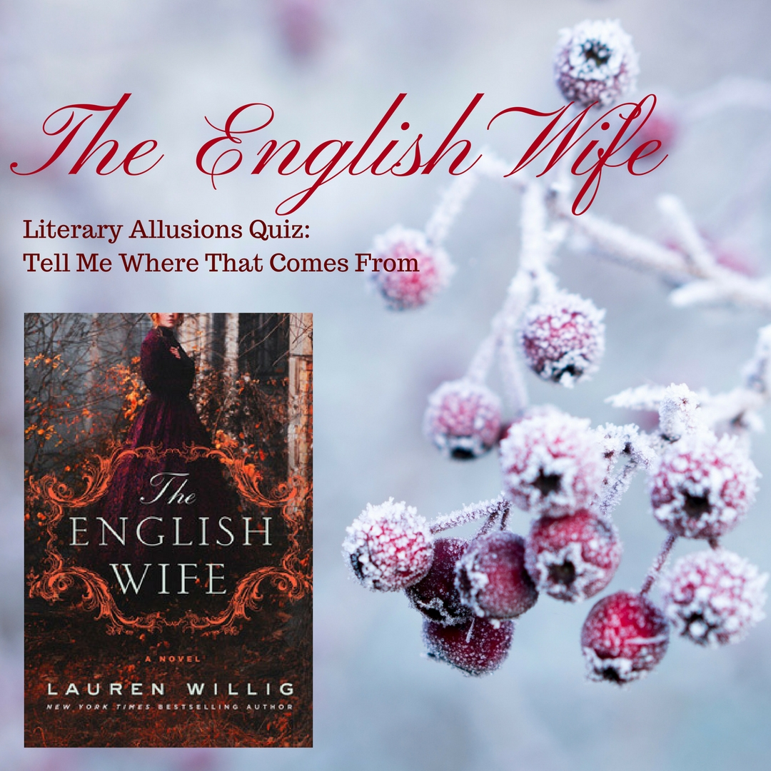 At the start of 2018, Lauren Willig did Whiskers a huge favor by signing a copy of her latest book, The English Wife, to giveaway on the blog.