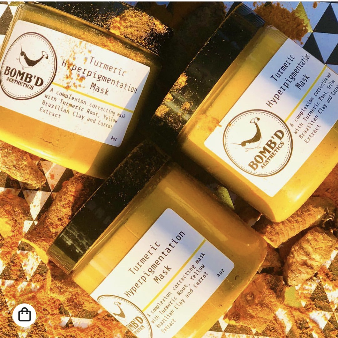 Bomb'd Aesthetics Tumeric Hyperpigmentation Mask     https://www.lovebombd.com/collections/all?page=2    I ordered this back in October so I think they are not making it anymore. I would reach out to confirm. It was $15