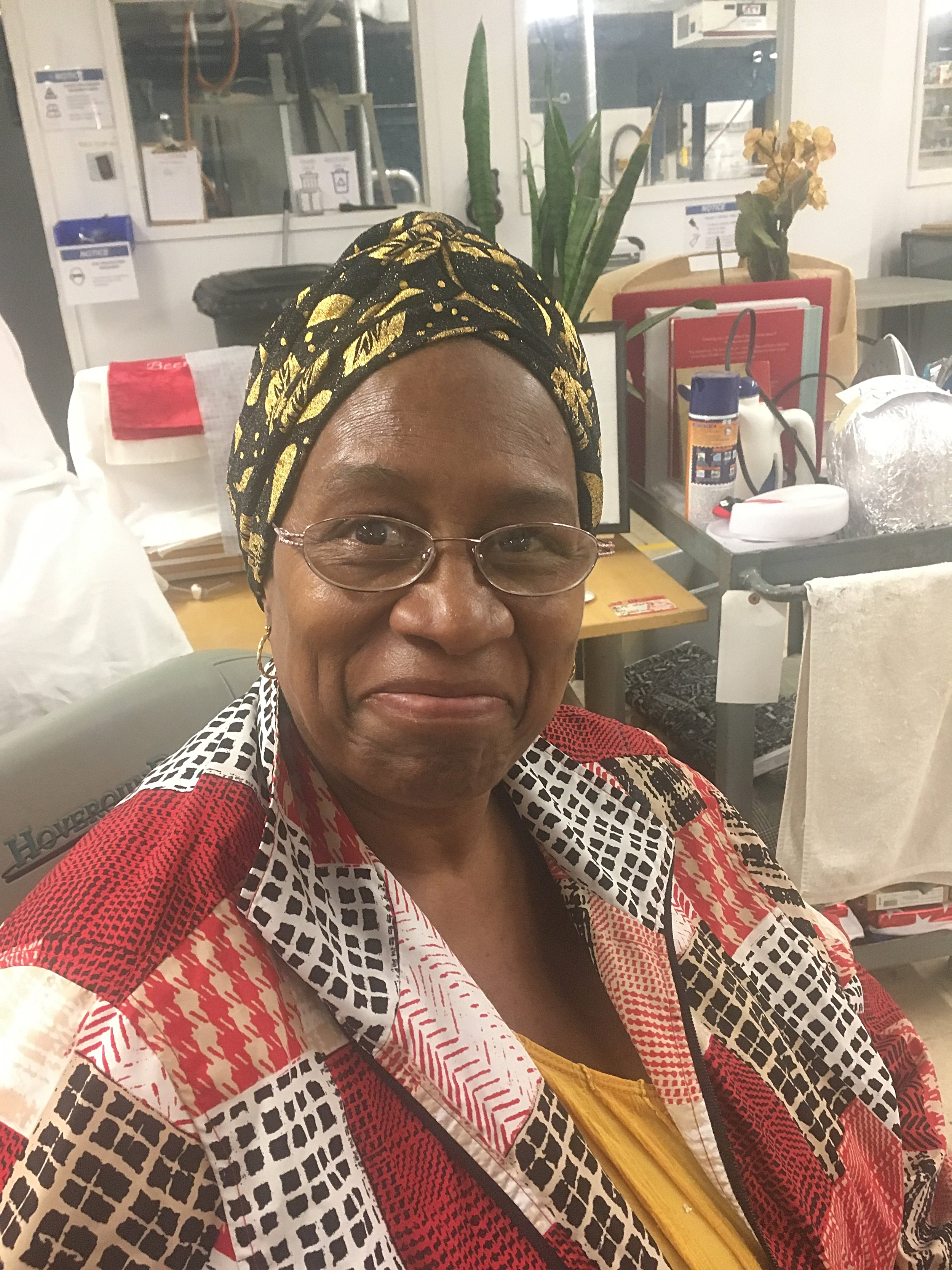 Linda Bolden: a Creative Writer of inspirational stories and poetry, Crochet Instructor, and a Seamstress, Linda is soft spoken and strong with a heart for healing women over traumatic situations.