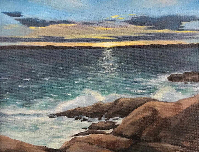 """Ocean Breeze"", 10"" x 8"", acrylic on canvas board"
