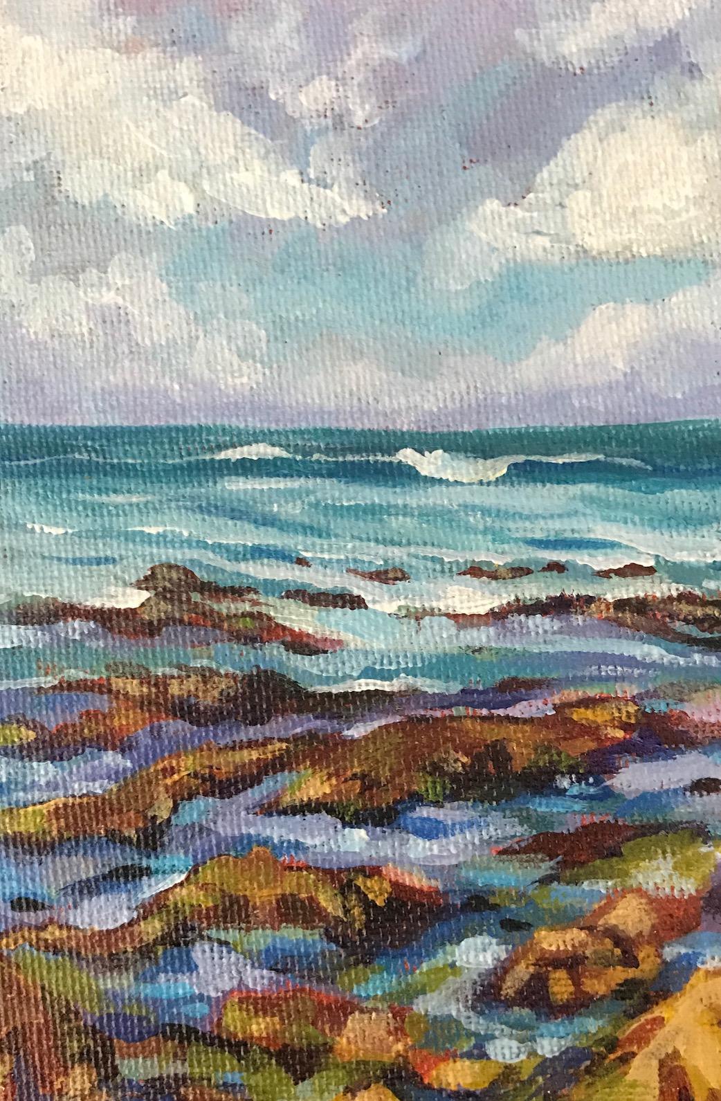 """A Distant Wave"", 4"" x 6"", acrylic on canvas board"