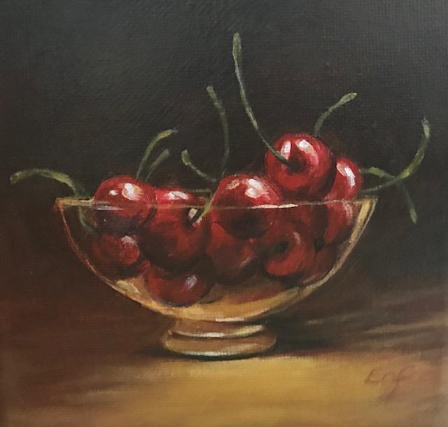 """Life"", 5"" x 5"", acrylic on canvas (SOLD)"