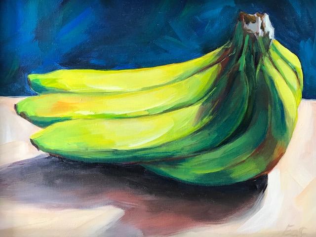 """Gone Bananas"", 14"" x 11"", acrylic on canvas"