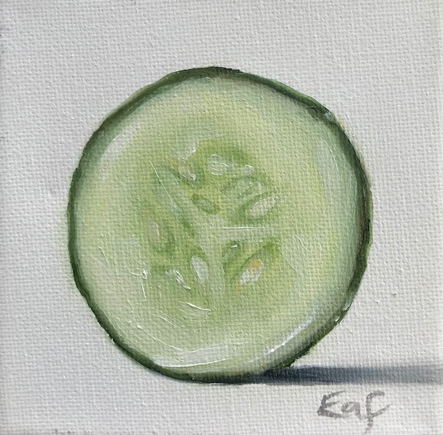 """""""Number Eight"""", 4"""" x 4"""", oil on canvas"""