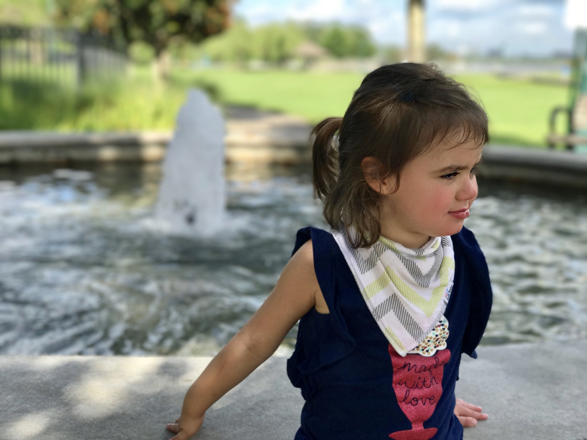 Ella enjoying a Louisiana park.