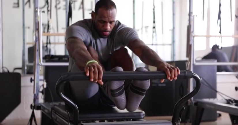 LeBron James on the Reformer. Image from google images
