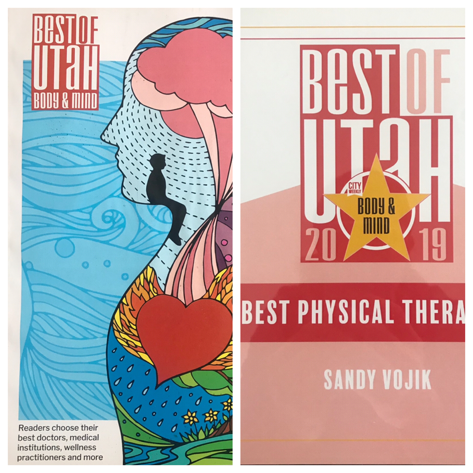 "Named City Weekly's Best of Utah 2019 ""Best Physical Therapist"" -"