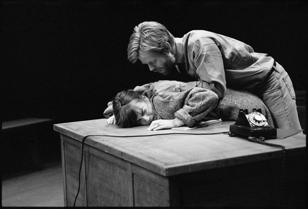 Oleanna, by David Mamet, with Rebecca Pidgeon, William H. Macy, 1992