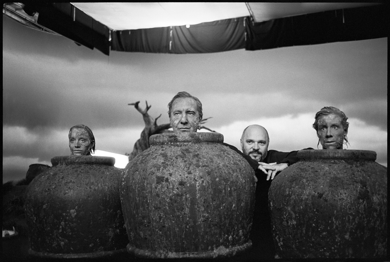 "Samuel Beckett's ""Play"", Kristin Scott Thomas, Alan Rickman, Juliet Stevenson, Anthony Minghella, 2001"