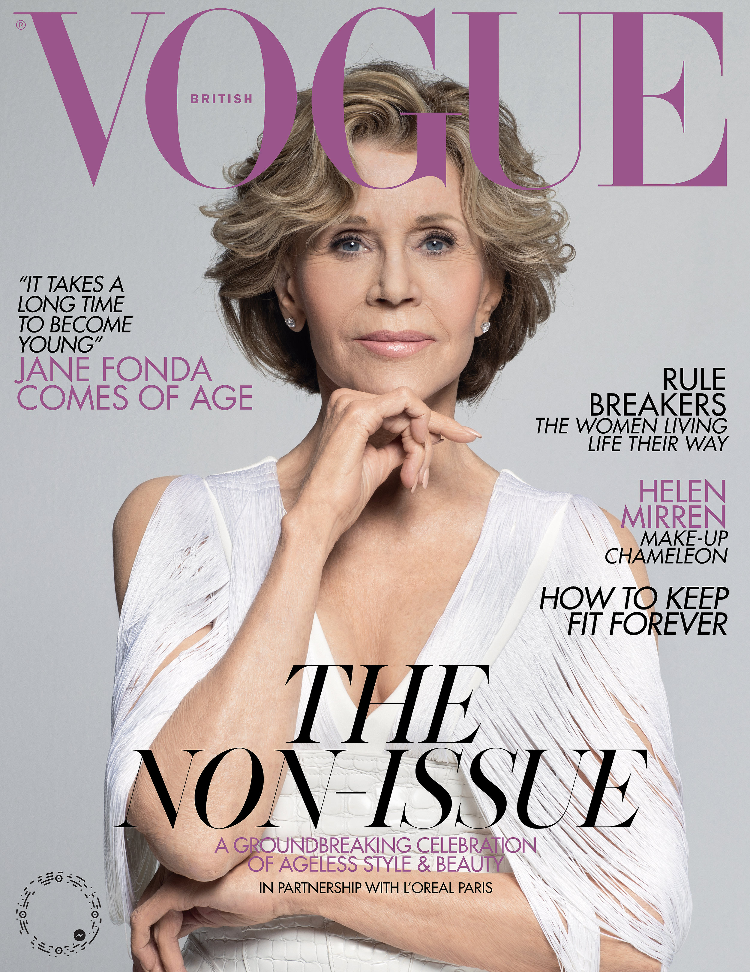 Jane Fonda, Vogue UK  March 2019