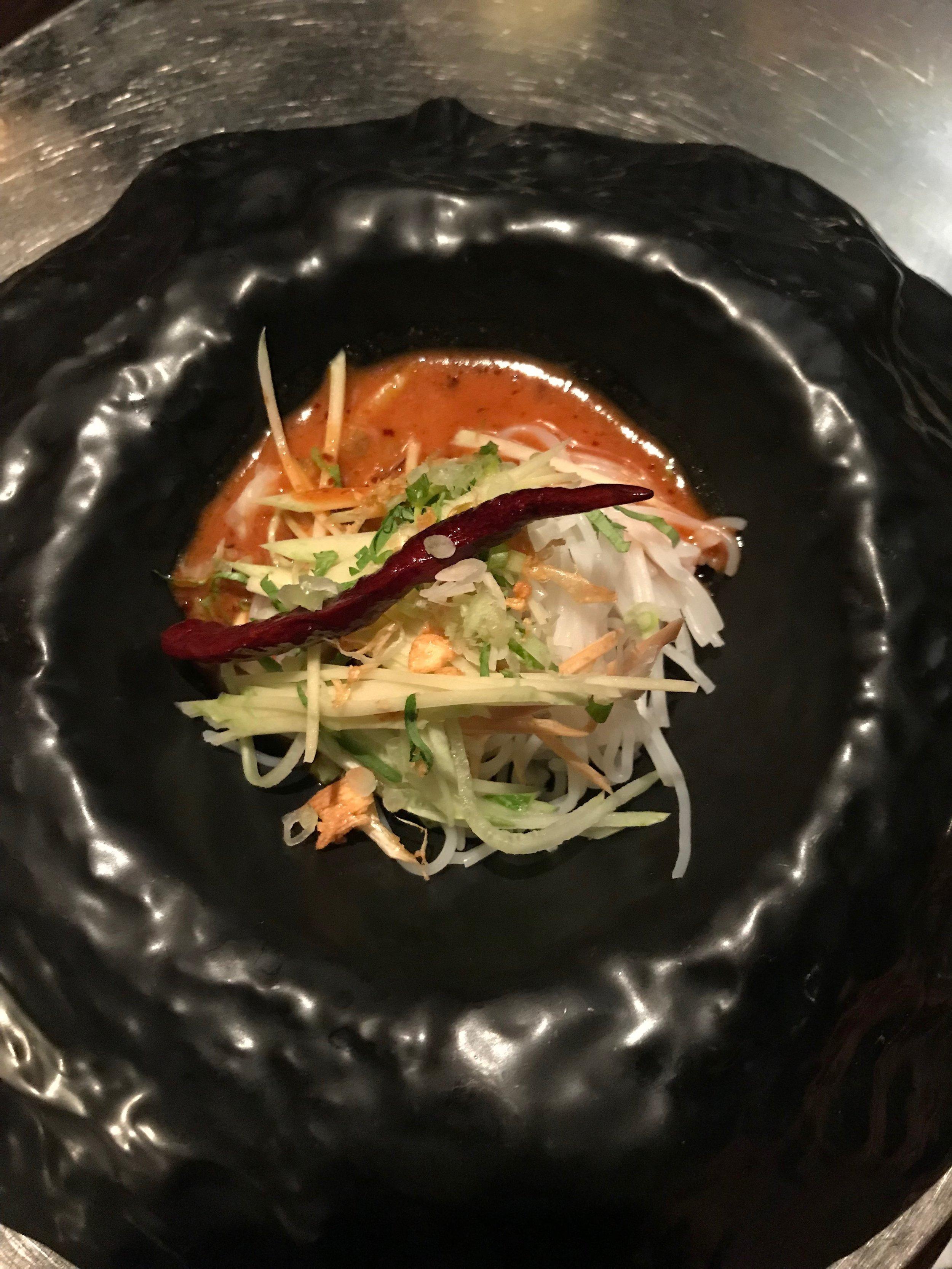 Bo Lan's take on Som Tam (papaya) Salad