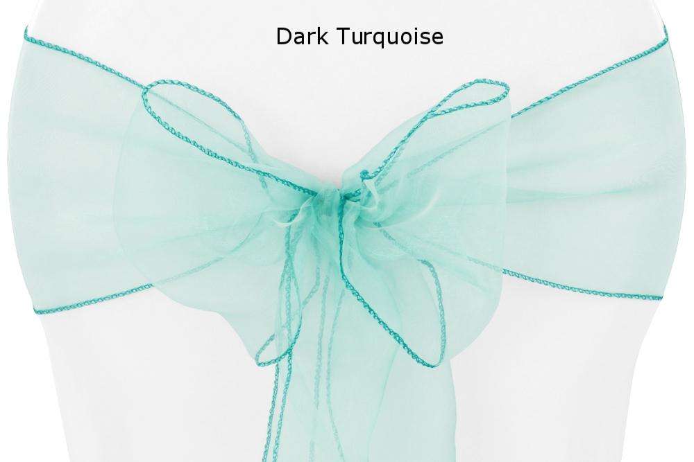 Sash Organza Dark Turquoise.jpg