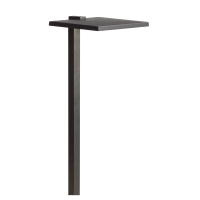 LED Shallow Shade<br>Large Path Light<br>Textured Black