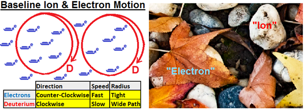 Electrons and ions in a RMF