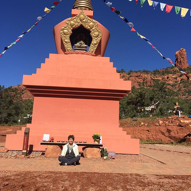 Amitabha Stupa & Peace Park, Sedona.  Spreading the Peace. Thousands of prayers are stored inside the Stupa