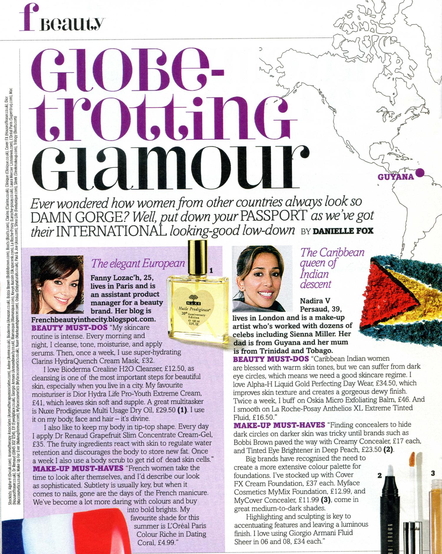 Globe Trotting Glamour, Fabulous Magazine